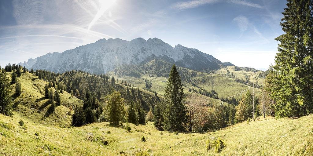 Wunderschöne Berglandschaft im Kaisergebirge